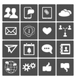 Social Icons Set vector image