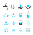 water icons set vector image