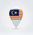Malaysian icon point for map vector image