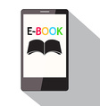 E-Book Title on Cell Phone Screen Flat Design vector image