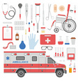 Medicine equipment vector image