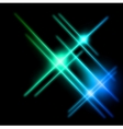 Abstract cyan and blue rays lights vector image