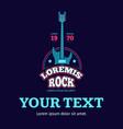 Retro rock music club shop sound record studio vector image