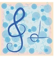 musical notes Doodle style vector image vector image