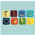 industrycomputer and development icons set vector image