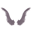 Dark Wings vector image vector image