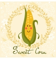 Cute sweet corn character vector image vector image