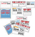Store coupons vector image