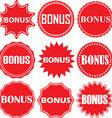 Bonus signs set bonus sticker set vector image vector image