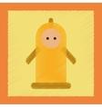 flat shading style icon condom contraceptive vector image