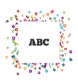 Abstract black alphabet ornament frame isolated on vector image