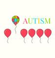 autism awareness balloon poster vector image