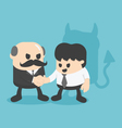 Businessman shaking hands with colleagues vector image