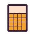 calculator device icon vector image