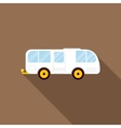 Car trailer caravan icon in flat style vector image