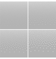 Set of Halftone White Dots on Gray Backgrounds vector image