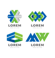 set of icon vector image