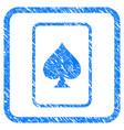 spades gambling card framed grunge icon vector image