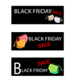 Sports Cars on Three Black Friday Sale Banners vector image