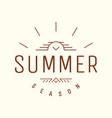 summer emblem retro hipster emblem vector image