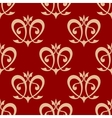 Swirling hearts seamless background pattern vector image