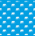 wild elephant pattern seamless blue vector image