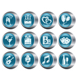 Party buttons vector image vector image