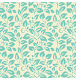 Floral seamelss wallpaper vector image