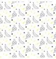 banana sketch line seamless pattern black vector image