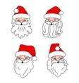 Christmas Santa Clouses vector image vector image