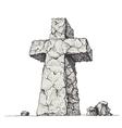 Stone cross vector image