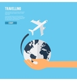 Global earth travel concept icon vector image