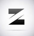 Logo for letter Z vector image vector image