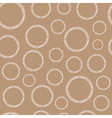 White Circles on Craft Paper Background vector image