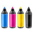 felt tip pen CMYK vector image