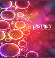 abstract with bubbles vector image