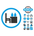 Apothecary Table Flat Icon with Bonus vector image