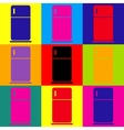 Refrigerator sign Pop-art style icons set vector image
