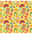 Seamless toys pattern vector image