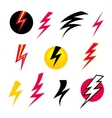 set Icons Lightning vector image
