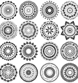 Set of round ornament patterns vector image vector image