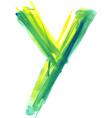 Watercolor Font LETTER Y vector image