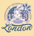 London roller rider rabbit print for kids vector image