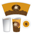 paper cup for hot drink with cup of coffee vector image