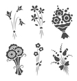 Graphical bouquets vector image vector image