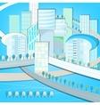 01 Eco City landscape vector image