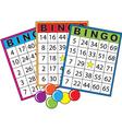 bingo cards vector image