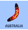 Australian national isolated colorful boomerang vector image