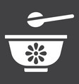 baby bowl solid icon baby food and nutrition vector image