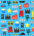 cartoon cinema color element background pattern on vector image